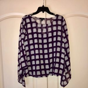 Alfani Bell Sleeve Double Layer Blouse NWT